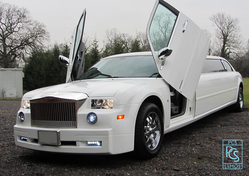 White Rolls Royce Phantom Style Limousine
