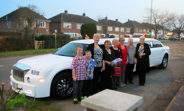 Limo Bithday Party in Cubbington Leamington spa