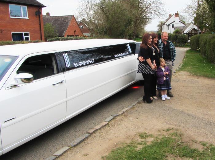 white Rolls Royce phantom style limo