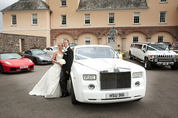 Cornwall White Rolls Royce Wedding Car